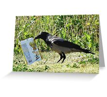Product Placement Crow Greeting Card