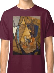 Juan Gris - Man At The Cafe. Abstract painting: abstract art, geometric, expressionism, composition, lines, forms, creative fusion, spot, shape, illusion, fantasy future Classic T-Shirt