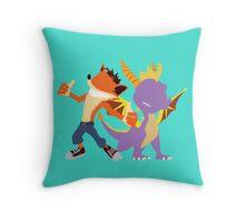 Crash and Spyro Throw Pillow