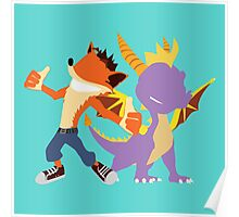 Crash and Spyro Poster