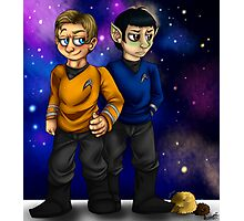 Kirk, Spock and some Tribbles Photographic Print