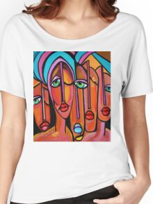 PICASSO PAINTING BY NORA  FOUR EYES Women's Relaxed Fit T-Shirt