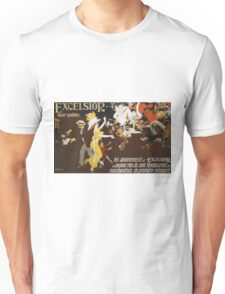 Jules Alexander Grun - Excelsior Poster. People portrait: party, woman and man, people, family, female and male, peasants, crowd, romance, women and men, city, home society Unisex T-Shirt