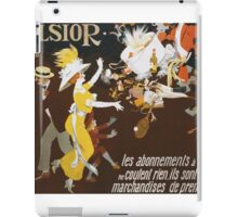 Jules Alexander Grun - Excelsior Poster. People portrait: party, woman and man, people, family, female and male, peasants, crowd, romance, women and men, city, home society iPad Case/Skin