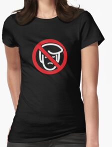 Say No To Grump (reverse) Womens Fitted T-Shirt
