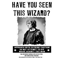 Wanted - Ron Weasley Photographic Print
