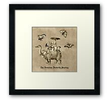 The Voracious Butterfly Hunting Framed Print