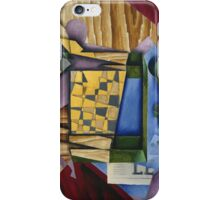 Juan Gris - Backgammon. Abstract painting: abstract art, geometric, expressionism, composition, lines, forms, creative fusion, spot, shape, illusion, fantasy future iPhone Case/Skin
