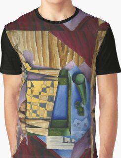 Juan Gris - Backgammon. Abstract painting: abstract art, geometric, expressionism, composition, lines, forms, creative fusion, spot, shape, illusion, fantasy future Graphic T-Shirt