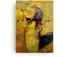 Jug with Yellow and Violet Flowers Canvas Print