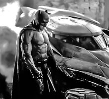 Batman vs Superman: Batman & Batmobile by HexZombies