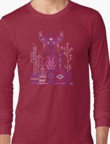 Santa Fe Garden – Blue & Purple Long Sleeve T-Shirt