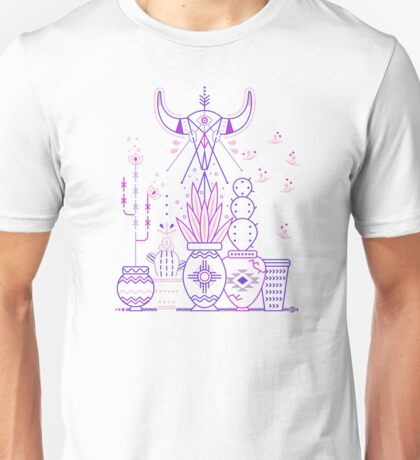 Santa Fe Garden – Blue & Purple Unisex T-Shirt