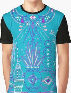 Santa Fe Garden – Blue & Purple Graphic T-Shirt