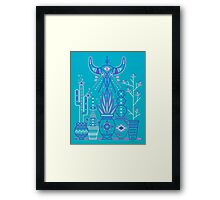 Santa Fe Garden – Blue & Purple Framed Print