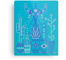 Santa Fe Garden – Blue & Purple Metal Print