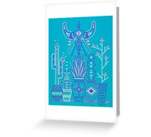 Santa Fe Garden – Blue & Purple Greeting Card