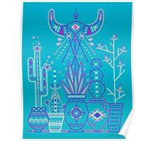 Santa Fe Garden – Blue & Purple Poster