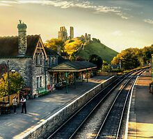 Corfe Castle Railway Station by Jon Holland