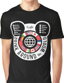 Drink Around the World - EPCOT Checklist v2 Graphic T-Shirt