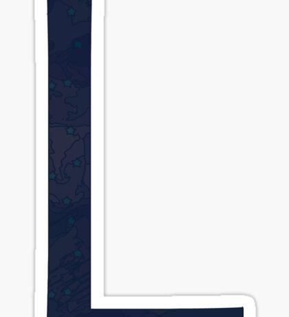 Nebula Letter L Monogram Sticker