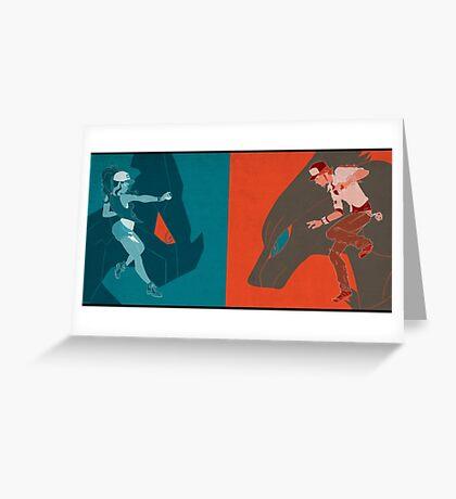 POKEMON WHITE Greeting Card