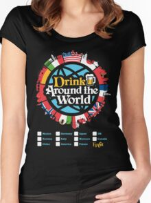 Drink Around the World - EPCOT Checklist v1 Women's Fitted Scoop T-Shirt
