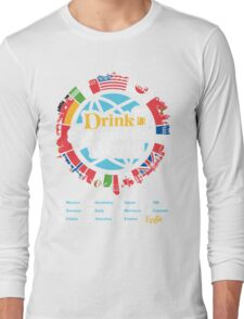 Drink Around the World - EPCOT Checklist v1 Long Sleeve T-Shirt