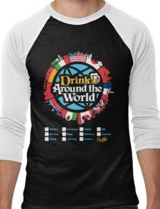 Drink Around the World - EPCOT Checklist v1 Men's Baseball ¾ T-Shirt