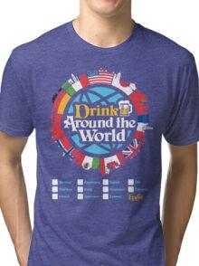 Drink Around the World - EPCOT Checklist v1 Tri-blend T-Shirt