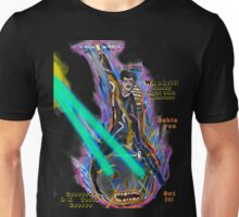Nikola Tesla Into Battle  riding anthropomorphic Light Bulb Unisex T-Shirt