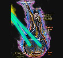 Nikola Tesla Into Battle  riding anthropomorphic Light Bulb Unisex T-Shirt