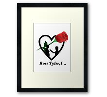 Rose Tyler,I... Framed Print