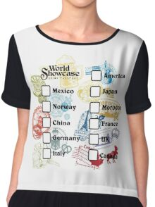 Drink Around the World - EPCOT Passport Chiffon Top