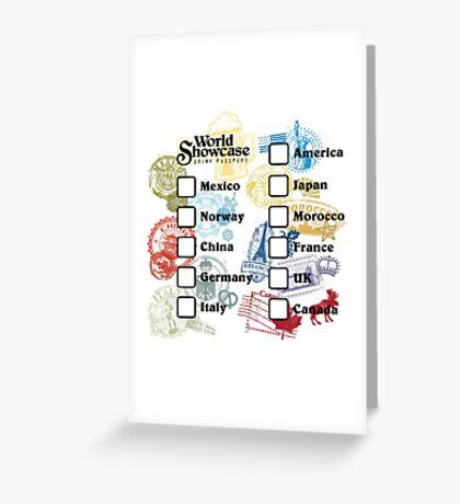 Drink Around the World - EPCOT Passport Greeting Card