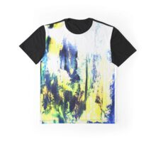 Abstract Blues Graphic T-Shirt