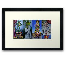 Muppets Haunted Mansion Stretching Room Portraits Framed Print
