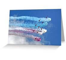 The RAF Red Arrows Aerobatic Team Greeting Card
