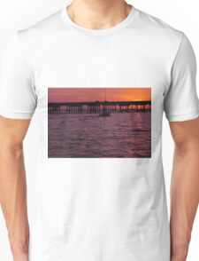 Laishley Pier Sunset, As Is Unisex T-Shirt