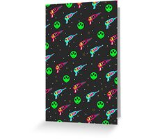 Alien Zap Greeting Card