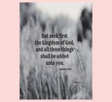 Matthew 6 Seek First Kids Tee