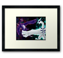 Fight your darkness Framed Print