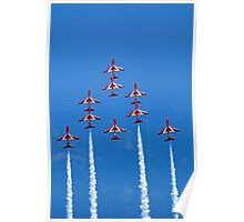 The RAF Red Arrows Aerobatic Team Poster