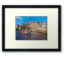 York Guildhall with river boat Framed Print