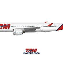 Illustration of TAM Airbus A350 by © Steve H Clark