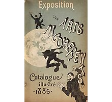 Jules Cheret - Cover Illustration For Exposition Des Arts Incoherents. People portrait: party, man, people, family, male, peasants, crowd, romance,  men, city, home society Photographic Print
