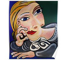 PICASSO PAINTING BY NORA The  Thinker  Poster