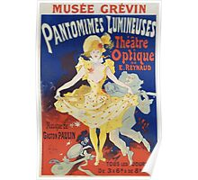 Jules Cheret - French Poster For Early Motion Picture Pantommes Lumineuses. Dancer painting: dance, ballet, dancing woman, ballerina, tutu, femine, women, dancer, disco, dancers, girls Poster