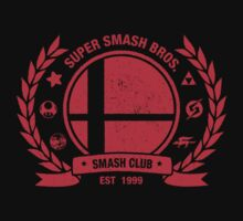 Smash Club (Red) by Bryant Almonte Designs
