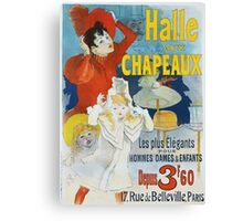 Jules Cheret - Halle Aux Chapeaux Poster. Dancer painting: dance, ballet, dancing woman, ballerina, tutu, femine, women, dancer, disco, dancers, girls Canvas Print